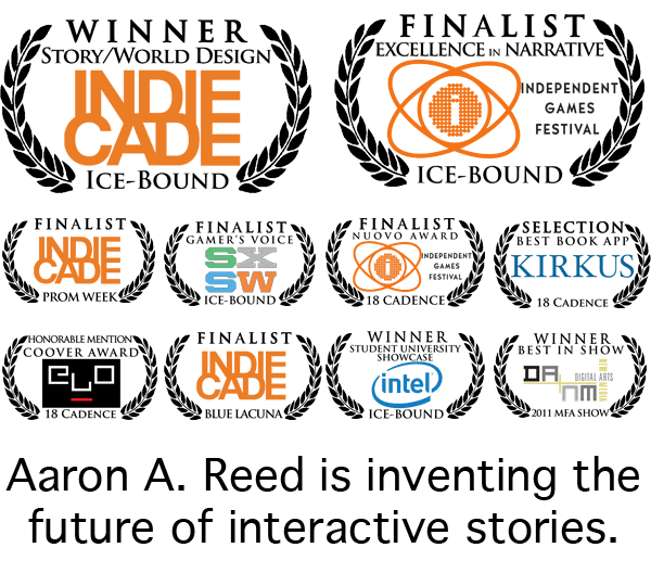 Aaron A. Reed is inventing the future of interactive stories.